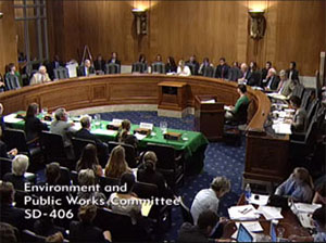 Roger Pielke, Jr., testified before the Senate Environment and Public Works committee