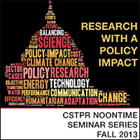 CSTPR Fall 2013 Noontime Seminar Series