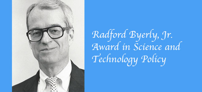 2017 Radford Byerly, Jr. Award in Science and Technology Policy