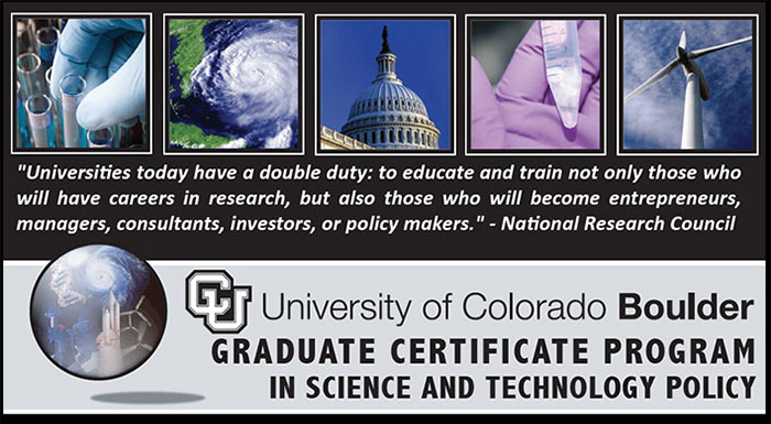 Graduate Certificate in Science & Technology Policy